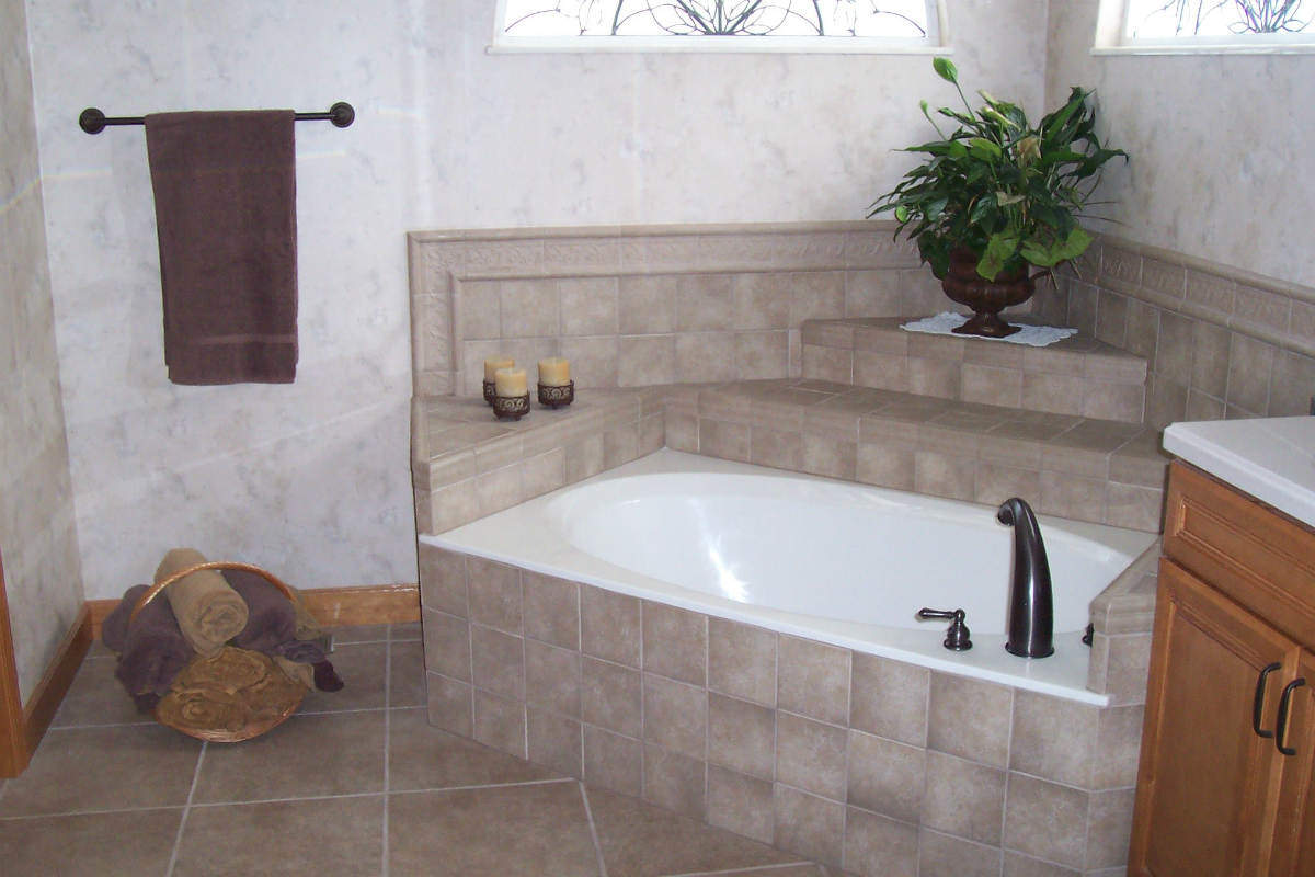 tile use in a bathroom remodel