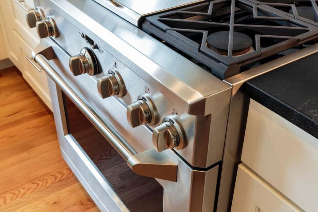 stainless steel kitchen stove