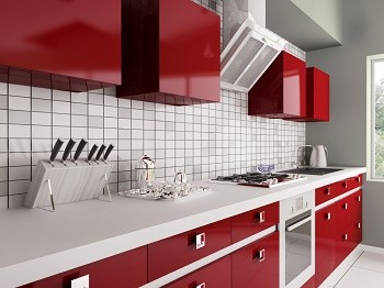St. Louis kitchen with red interior