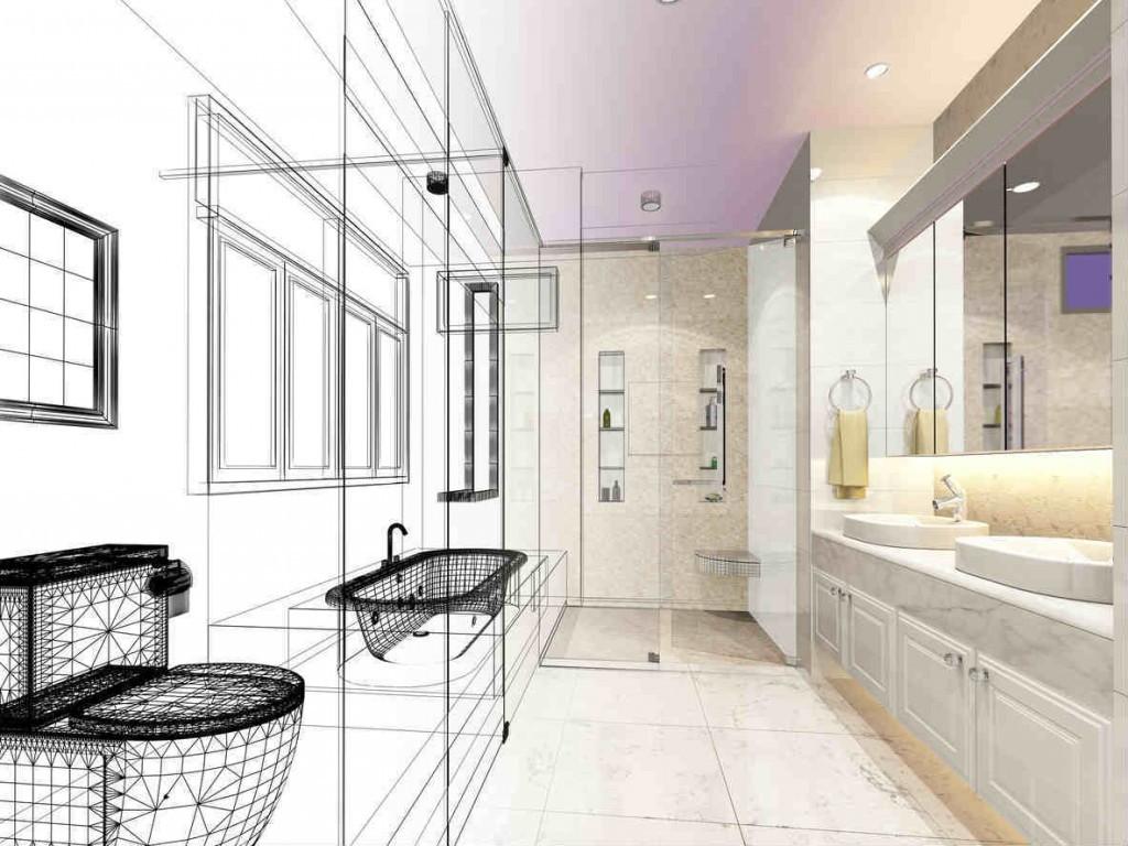 bathroom remodel abstract idea